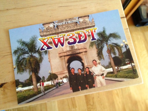 Laos QSL card.